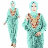 Dress Gamis Jumbo Brokat Model Kaftan / Syari Murah Tosca Muslim