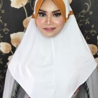 Khimar Hijab Jilbab Kerudung Syari Jokowi Haba Putih Kombinasi Bagus