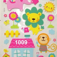 3D Wall Sticker Besar Tipe 1009-1012