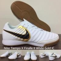 SEPATU FUTSAL TIEMPO X FINALE II WHITE GOLD IC