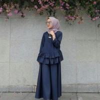 BANI NAVY/ BLOUSE / DRESS MAXI / JUMPSUIT MUSLIM / HIJAB FASHION .