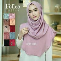 Jilbab Felicia Instan Terbaru Khimar Simpel Tanpa Pet Hijab Elegant