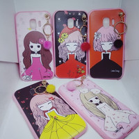 Case Korean Girl + Hanger Samsung J2 Pro Soft Case Casing Kartun J2pro