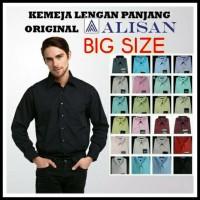 Kemeja Lengan Panjang Reguler, Big Size 16,5-17,5 Original Alisan ! !