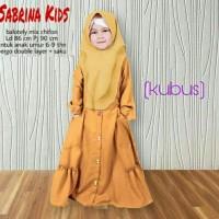 set baju muslim sabrina kid kubus fashion anak stelan anak gamis anak