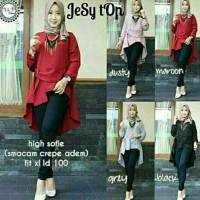 Harga exclusive jesy top blouse baju muslim baju kerja tunik model | Pembandingharga.com
