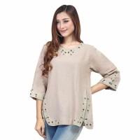 Baju Atasan Blus Blouse Wanita Cewek Cewe Warna Krem SRS 140 IL