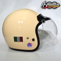 Helm Retro Fino Barcode Krem