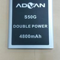 Baterai Advan S50G / Double Power / Ori / battrey / batrai / batrai hp