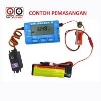 Battery Cell Meter 8 - LiOn LiPo LiFe NiMH NiCd + Servo 5V
