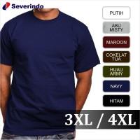 Jual Baju Kaos Polos Dewasa Big Size Jumbo 3XL 4XL XXXL Kaos Oblong T-Shirt Murah
