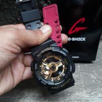 JAM TANGAN PRIA G-SHOCK GA 110 BLACK GOLD STRAP COMBINASI WARNA