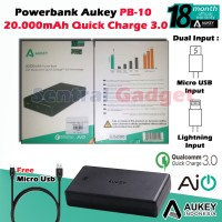 POWERBANK AUKEY PB-T10 20000mAh, POWER BANK QUALCOMM QUICK CHARGE 3.0