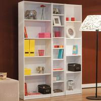 Lemari Buku Warna putih bahan kayu