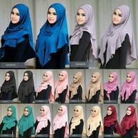 Jual Shabiya Lipit/Jilbab Instan Tanpa PET Model Lipit Kepala Dan Rempel Murah