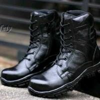 sepatu adidas pdl safety boot full black ujung besi