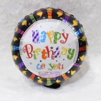 Balon Foil HBD Happy Birthday Bulat Lilin
