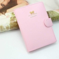 Cover Paspor Wanita Bahan Kulit - pink