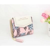 Dompet Wanita Floral Pattern - WW03194 - pink