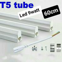 tl t5 9w led cahaya putih panjang sekitar 60cm lampu etalase