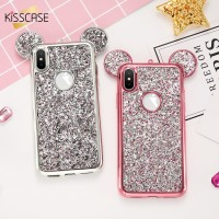 KISSCASE Glitter Sequin Case iPhone 7 6 plus Case Silicone Cover iPhon