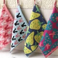 [ Lap Motif Strawberry - Kelinci ] Lap Tangan model baru / Hand Towel