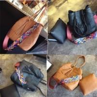 Trendy Masa Kini  Tas wanita fashion 17011  bag color strap 2 in 1 han