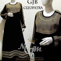 Original Gamis Hitam Motif Bordir di dada, Baju Muslim Pesta Syari