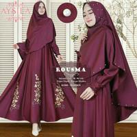 Gamis / Baju / Setelan Wanita Muslim Rousma Syari 2in1 Good Quality