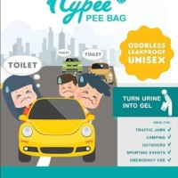 HYPEE PEE BAG - 5 Pcs (Kantong Urin Portable Purinoir Travel)