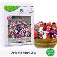 NEW Benih Bibit Bunga Petunia Ultra Mixed Haira Seed