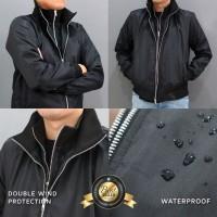 Jaket motor harian anti air model double zipper LOCAL PRIDE