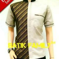 Kemeja Hem Baju Batik pria kerah sanghai koko kantoran prodo kombinasi