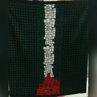 BAJU MUSLIM MURAH Kain sarung dewasa rabbani warna hitam polos motif