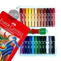Faber Castell Hexagonal Oil Pastel Crayon 24 Colours Warna