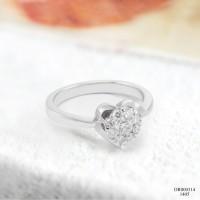 Cincin Berlian Wanita / Cincin Emas Putih DR000314 V&Co Jewellery