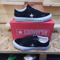 Sepatu Converse One Star Ox Low Black White Premium BNIB