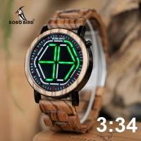 Jam Tangan Kayu LED Pria Laki Bobo Bird WP13 Wooden Watches