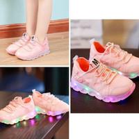 Sepatu Anak Lampu - Yamamoto Led Pink