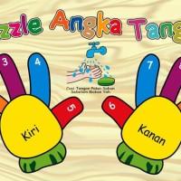 Mainan Anak Kayu Edukasi - Puzzle Sticker Tangan