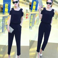 [JsEliza navy RO] jumpsuit wanita twiscont navy