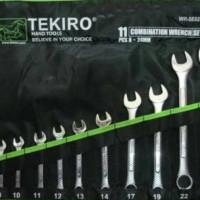 Dijual Tekiro Kunci Ring Pas Set 11 Pcs 8 - 24 Mm Limited
