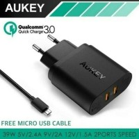 Dijual Aukey Charger Dual Usb Port Quick Charge 3.0 Wall Charger