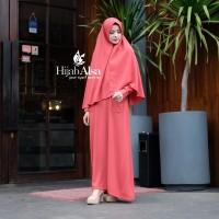 Hijab Alsa Gamis Syari Fathia Akhwat Perempuan Wanita Warna MerahBata