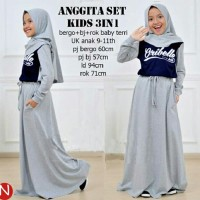 Sweater rok bergo hijab stl babyterry 68119-angita (navy-abu) 9-11 thn