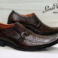 PROMO FREE BONUS sepatu kerja formal Louis Vuitton pantovel kulit asl
