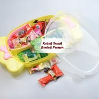 Toples Bentuk PERMEN Kotak Snack, Kue, Tutup Kedap Udara
