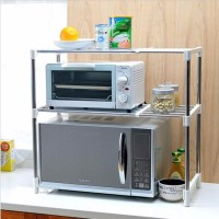 best seller Microwave Oven Stainless Steel Shelf Storage Rack Rak Pen