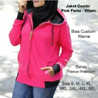 Jaket Ripcurl Pink Fanta - Hitam Hoodie Fleece Premium Size S M L XL 2