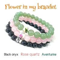 GELANG FLOWER IN MY BRACELET - BLACK ONYX